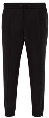 Dolce & Gabbana Virgin Wool Track Pants - Mens - Black