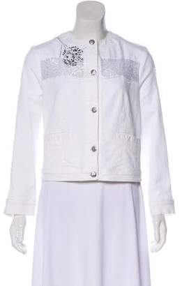 Blumarine Lace-Trimmed Denim Jacket