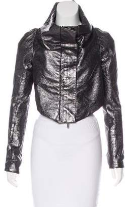 Gareth Pugh Asymmetrical Leather Jacket