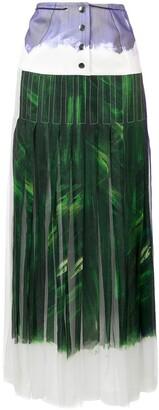Victoria Beckham yoke panel pleated maxi skirt