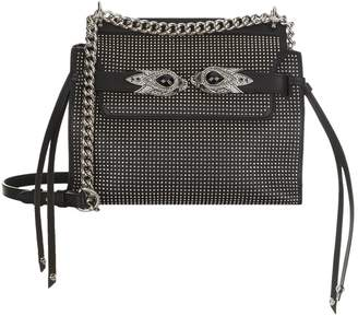 Roberto Cavalli Stud Embellished Leather Shoulder Bag