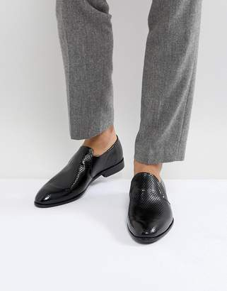 HUGO Appeal Printed Geo Leather Loafers In Black