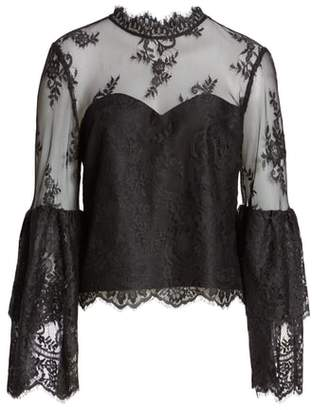 Cupcakes And Cashmere Lace Layered Bell Sleeve Blouse