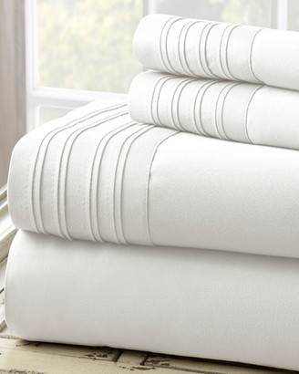 Colonial Home 1000Tc Easy Care Pleated Hem Sheet Set