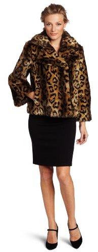 Jones New York Women's Faux Fur Jacket