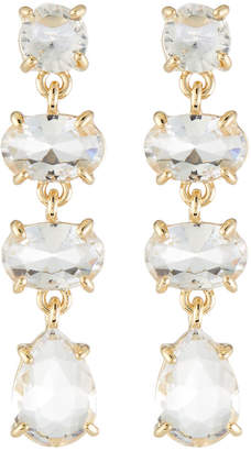 Lydell NYC Crystal Linear Drop Earrings
