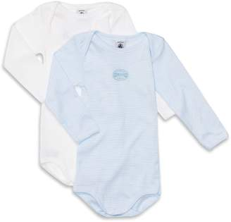 Petit Bateau Long-Sleeved Bodysuits 2 Pack