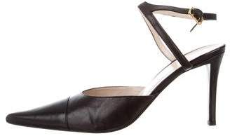 Chanel Pointed-Toe Leather Pumps