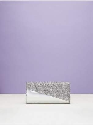 Diane von Furstenberg Angular East West Clutch With Tinsel