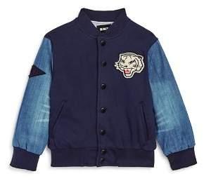 True Religion Boys' Tiger Appliqué Knit Baseball Jacket - Little Kid