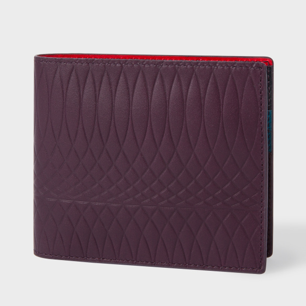 Paul SmithPaul Smith No.9 - Damson Leather Billfold Wallet With Multi-Coloured Interior
