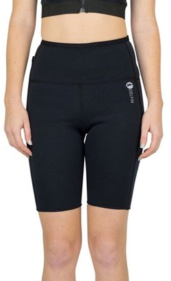 Delfin Spa Women's Heat Maximizing Neoprene Exercise & Anti-Cellulite Shorts, BLACK, X-Small