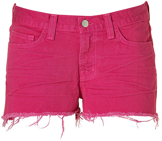 J BRAND Bright Fuchsia Cut-Off Shorts