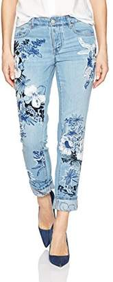 William Rast Women's Willliam Rast-My EXS Jean with Floral Embroidery