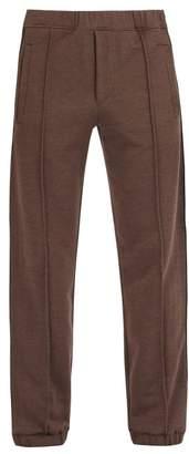 Fendi Logo Jacquard Tape Track Pants - Mens - Brown