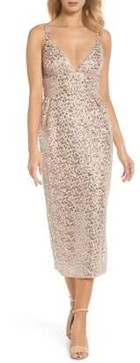 Jill Stuart Sequin Midi Sheath Dress
