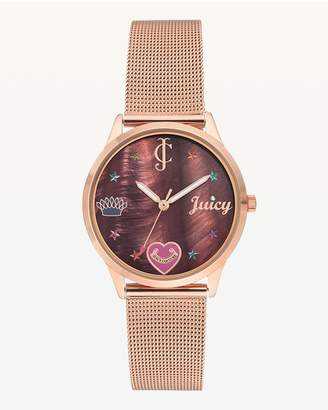 Juicy Couture Juicy Charms Metal Mesh Watch