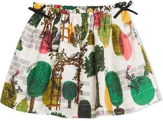 Burberry TEEN tree print skirt