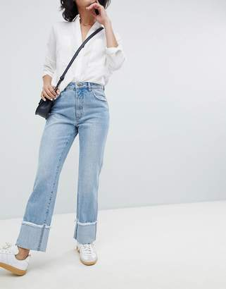 Rollas Rolla's Original Straight Jean with Turn Up Hems