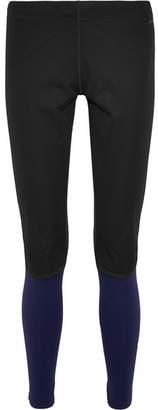 Falke Ergonomic Sport System - Windproof Paneled Stretch-jersey Leggings - Midnight blue