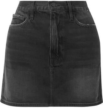 Frame Le Mini Denim Skirt - Gray