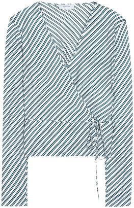Carven Striped silk blouse