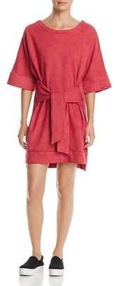 Kenneth Cole Tie-Front Sweatshirt Dress