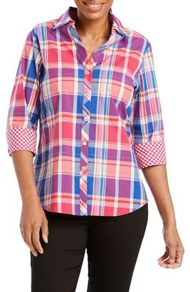 Foxcroft Mary Madras Plaid Shirt