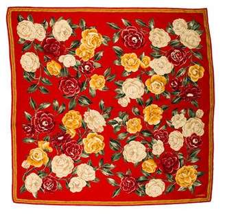 Chanel Roses Silk Scarf