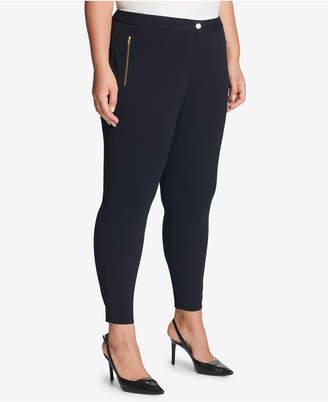 Calvin Klein Plus Size Straight-Leg Crepe Pants