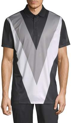 J. Lindeberg Golf Men's Colorblock Polo Shirt