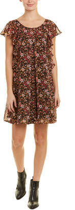 BCBGeneration Ruffled Shift Dress