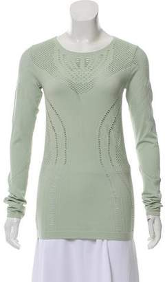 Alo Yoga Eyelet-Accented Long Sleeve Top