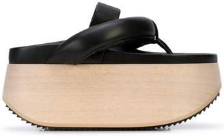 Jil Sander platform clog sandals