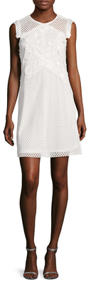 Cotton Embroidered Eyelet Shift Dress $178 thestylecure.com