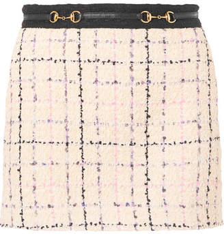 Gucci Embellished Cotton-blend Bouclé-tweed Mini Skirt - Ivory