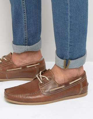 Red Tape Boat Shoes In Leather