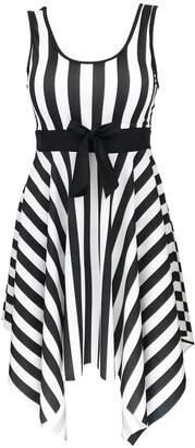 DANIFY Women's One Piece Swimsuit Sailor Vintage Bathing Suit Plus Size Swimdress
