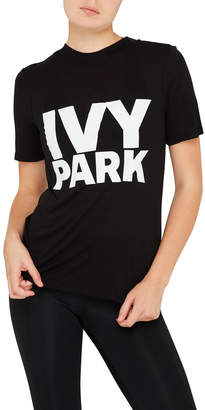 Ivy Park Fitted Logo Tee - White Logo