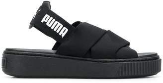 Puma logo sling-back sandals