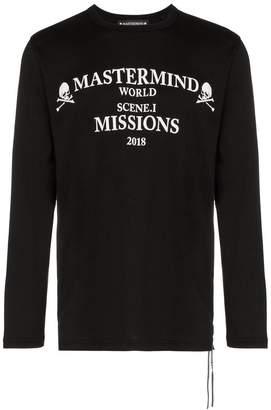 Mastermind Japan missions logo long sleeve cotton t-shirt