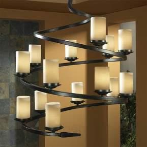 Mehrflammiger LED-Kronleuchter CRISOL