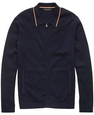 Banana Republic JAPAN EXCLUSIVE SUPIMA® Cotton Zip-Up Sweater