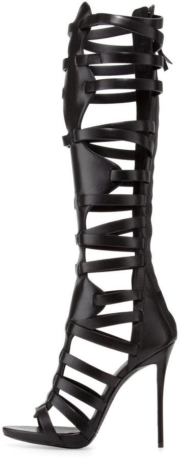 Giuseppe Zanotti High-Heel Caged Knee Sandal