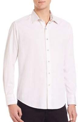 Robert Graham Volcanic Rock Woven Cotton Shirt