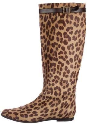 Ralph Lauren Ponyhair Knee-High Boots