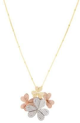 Angélique de Paris Fleur Crystal Pendant Necklace