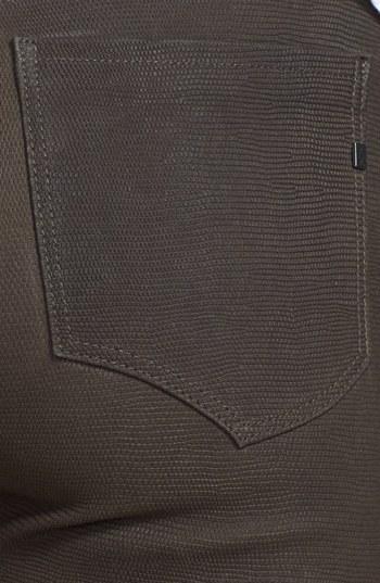 Genetic Denim 'Shya' Suede Cigarette Jeans (Deep Olive)