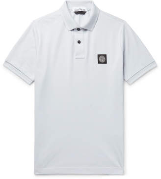 Stone Island Slim-Fit Logo-Appliqué Stretch-Cotton Piqué Polo Shirt