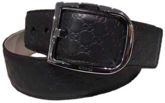 Gucci Signature Belt Guccissima Embossed Ruthenium Black